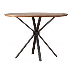 Pavilion Chic Round Dining Table Thales in Oak Veneer