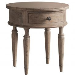 Pavilion Chic Round Side Table Cotswold with Drawer