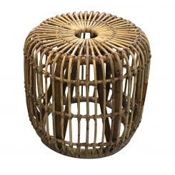 Pavilion Chic Round Side Table Maputo in Rattan