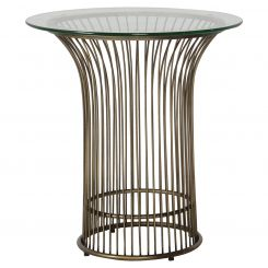 Pavilion Chic Round Side Table Zepplin Accra in Bronze