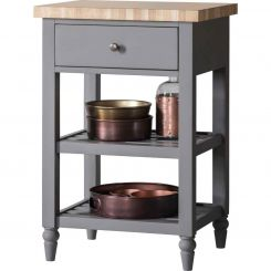 Pavilion Chic Side Table Butchers Block Huntley in Grey