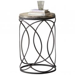 Pavilion Chic Side Table Salta Industrial Spiral Leg