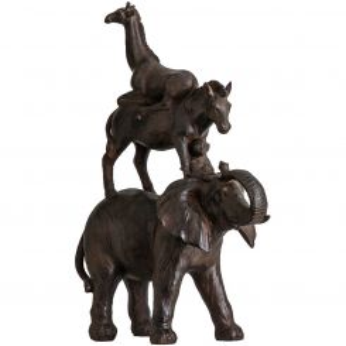 Pavilion Chic Statue Zebra, Monkey, Giraffe & Elephant Majestic