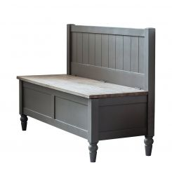 Pavilion Chic Storage Hall Bench Huntley in Grey