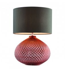 Pavilion Chic Table Lamp Teris Diamond Glass Copper