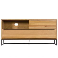 Pavilion Chic TV Unit Shoreditch in Lacquered Oak