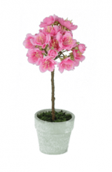 Pavilion Flowers Artificial Mini Cherry Blossom Tree Pink Height 23cm