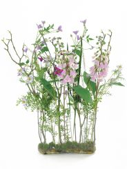Pavilion Flowers Pink & Lavender Wild Flower Mix-oval Tank Height 90cm