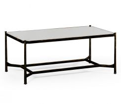 Jonathan Charles Rectangular Coffee Table Contemporary in Antique Mirror