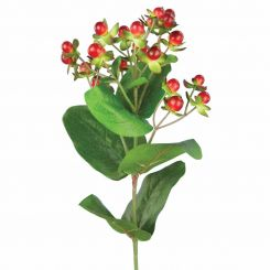 Pavilion Flowers Artificial Hypericum Red Height 72cm