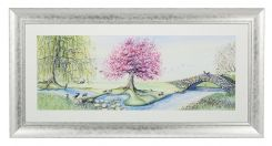 Pavilion Art Riverbank Bunnies by Catherine Stephenson - Framed Print