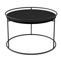 Calligaris Round Coffee Table Atollo in Black