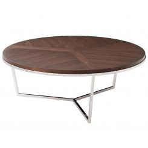 TA Studio Round Coffee Table Fisher - Macadamia Black