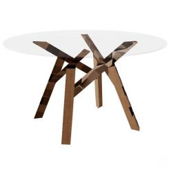Calligaris Round Dining Table Jungle in Glass