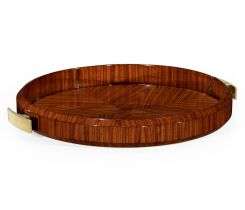 Jonathan Charles Round Tray Rosewood
