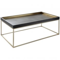 RV Astley Coffee Table Alyn with Brass Trim