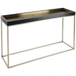 RV Astley Console Table Alyn with Brass Trim