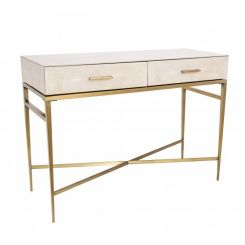 RV Astley Console Table Esta in Faux Shagreen