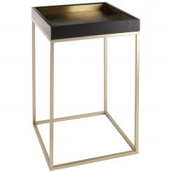 RV Astley Side Table Alyn with Brass Trim
