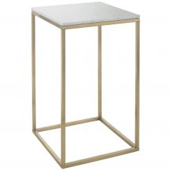 RV Astley End Table Faceby with Marble Top