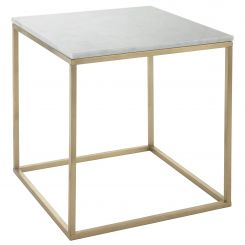 RV Astley Cube Side Table Faceby with Marble Top