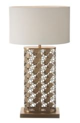 RV Astley Table Lamp Fairfield Antique Brass Geometric