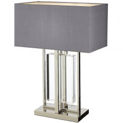 RV Astley Table Lamp Sarre in Crystal & Nickel