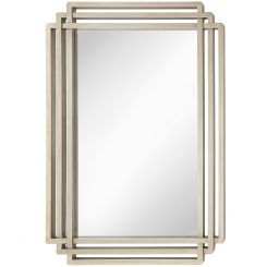 RV Astley Wall Mirror Oswin in Silver Leaf Champagne