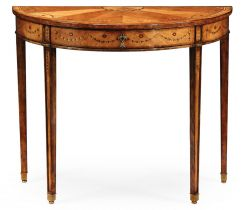 Jonathan Charles Demilune Console Table Sheraton