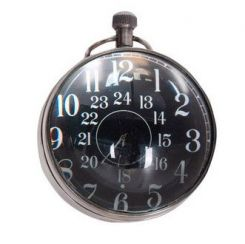 Authentic Models Library Eye of Time Clock - Silver