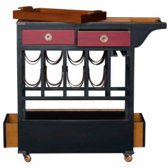 Authentic Models Drinks Trolley with Wine Rack & Tray