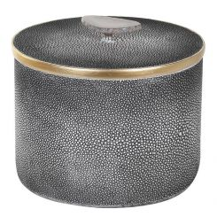Pavilion Chic Huxley Round Box in Faux Shagreen