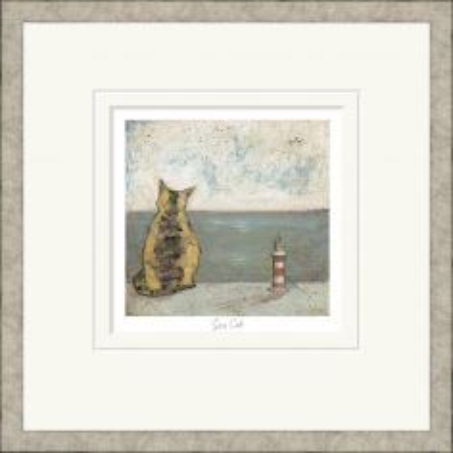 Pavilion Art Sea Cat by Sam Toft - Limited Edition Framed Print