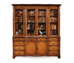 Jonathan Charles China Cabinet Architrave in Walnut