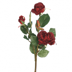 Pavilion Flowers Artificial Rose Burgundy Height 38cm