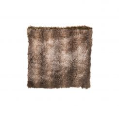 SIA Brown Faux Fur Cushion Cover 70 X 70 Cm