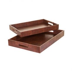 SIA Trays 'lezard' Brown Length 48cm And 43cm