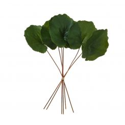 SIA Green Artificial Galax Leaves Bundle Height 35cm