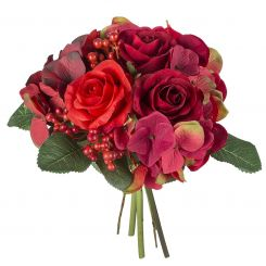 SIA Mixed flower Bouquet Red Height 27cm