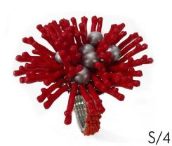 SIA Napkin Ring Coral Red S/4 Height 3.8cm