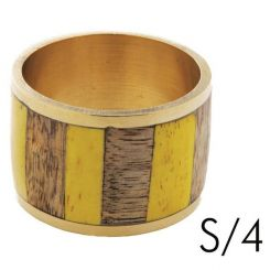 SIA Napkin Ring Salsa S/4 Height 3.8cm