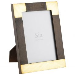 SIA Photo Frame Golden Brown Height 24cm