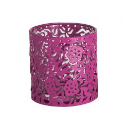 SIA Pink Tealight Holder 'batik' Height 8cm