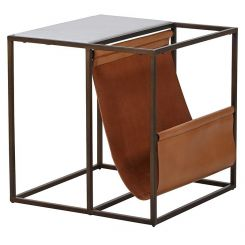 Pavilion Chic Side Table Magazine Rack Adonis