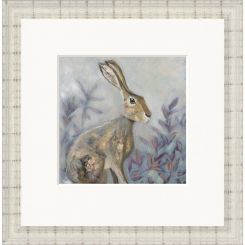 Pavilion Art Sitting Hare by Nicola Hart - Limited Edition Framed Print