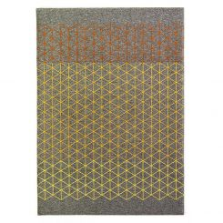 Calligaris Small Rug Apotema in Grey & Yellow