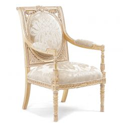 Duresta Flavia Chair in Wendover Soft Gold
