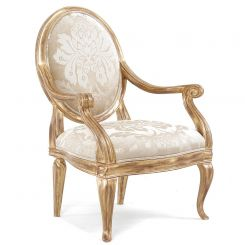 Duresta Amadeus Chair in Wendover Soft Gold