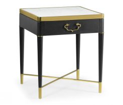 Jonathan Charles Square End Table in Ebonised Oak