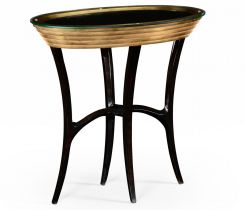 Jonathan Charles Oval Side Table Modernist Stepped